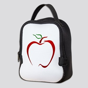 Apple Outline Neoprene Lunch Bag